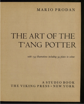 The Art of the T'ang potter